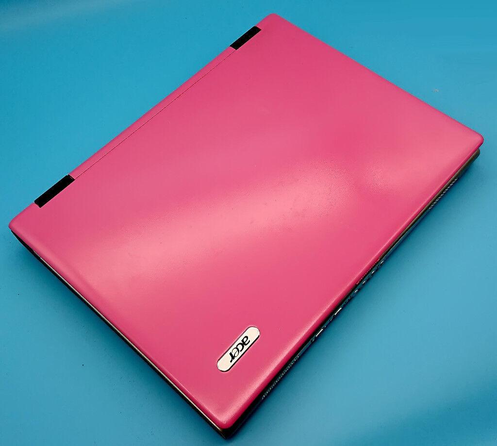 PINK ACER Aspire 3690, 2gb RAM, 80gb Hard Drive, DVD/RW and Genuine Windows 7 Pro