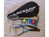 Brand new Dunlop Tennis raquet set