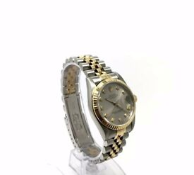 ROLEX DATEJUST 31 MID-SIZE 68273 STEEL & GOLD DIAMOND DIAL AUTOMATIC WATCH 1993