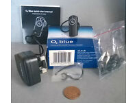 o2 blue bluetooth wireless headset