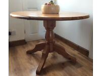 Solid Pine, Round Dining Table