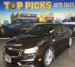 2015 Chevrolet Cruze 2LT, LEATHER, SUNROOF, ALLOYS, BACK UP CAME