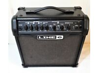 LINE 6 SPIDER IV 15 WATT ELECTRIC GUITAR MODELLING COMBO PRACTICE AMPLIFIER IN GREAT CONDITION