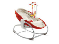 Tiny Love 3-in-1 baby rocker bouncer napper bed . Comes with toys and clean washable padded mat/seat