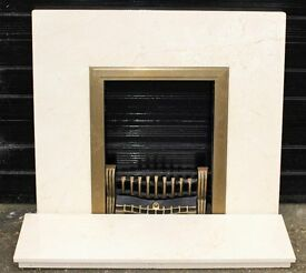 Real Italian Marble Fire Surround (Not Composite)