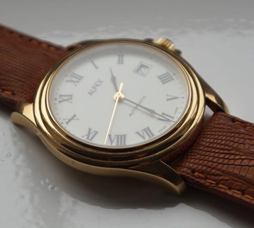 Alfex Automatic Mechanical Wristwatch Swiss 93 New Old Stock