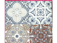 12 x Spanish Ceramic Mosaic Wall or Floor Tile 44.7 x 44.7 x 9cm