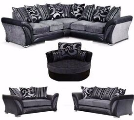 **FREEE CUSHIONS AND CHROME FEET**-BRAND NEW DFS SHANNON CORNER/3+2 SOFA or CUDDLE CHAIR + DELIVERY