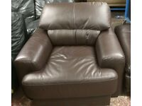 super comfy brown leather chair