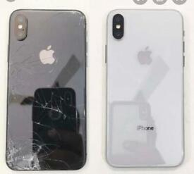 IPhone 8, 8 plus , iPhone X , Xs XR , iphone 11 ,11 pro back glass Replacemint service same day
