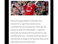 Robbie Fowler meet and greet tickets
