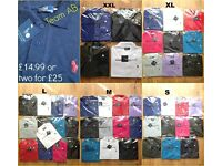 RALPH LAUREN POLO SHIRT T SHIRTS BNWT HIGH QUALITY 48 PCS WHOLESALE JOBLOT BUNDLE JOB LOT BOX CHEAP