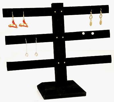 1 Black Velvet 3 Tier Earring Display Jewelry Stand