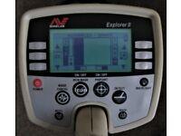 Minelab Explorer II (2) Metal Detector with Etrac Coil & Koss Phones