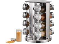 16-Jar Revolving Countertop Spice Rack Organizer