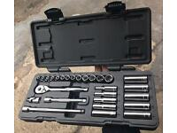 Halfords Socket Set 27 Piece 1/4 Drive CHEAP! RRP £60
