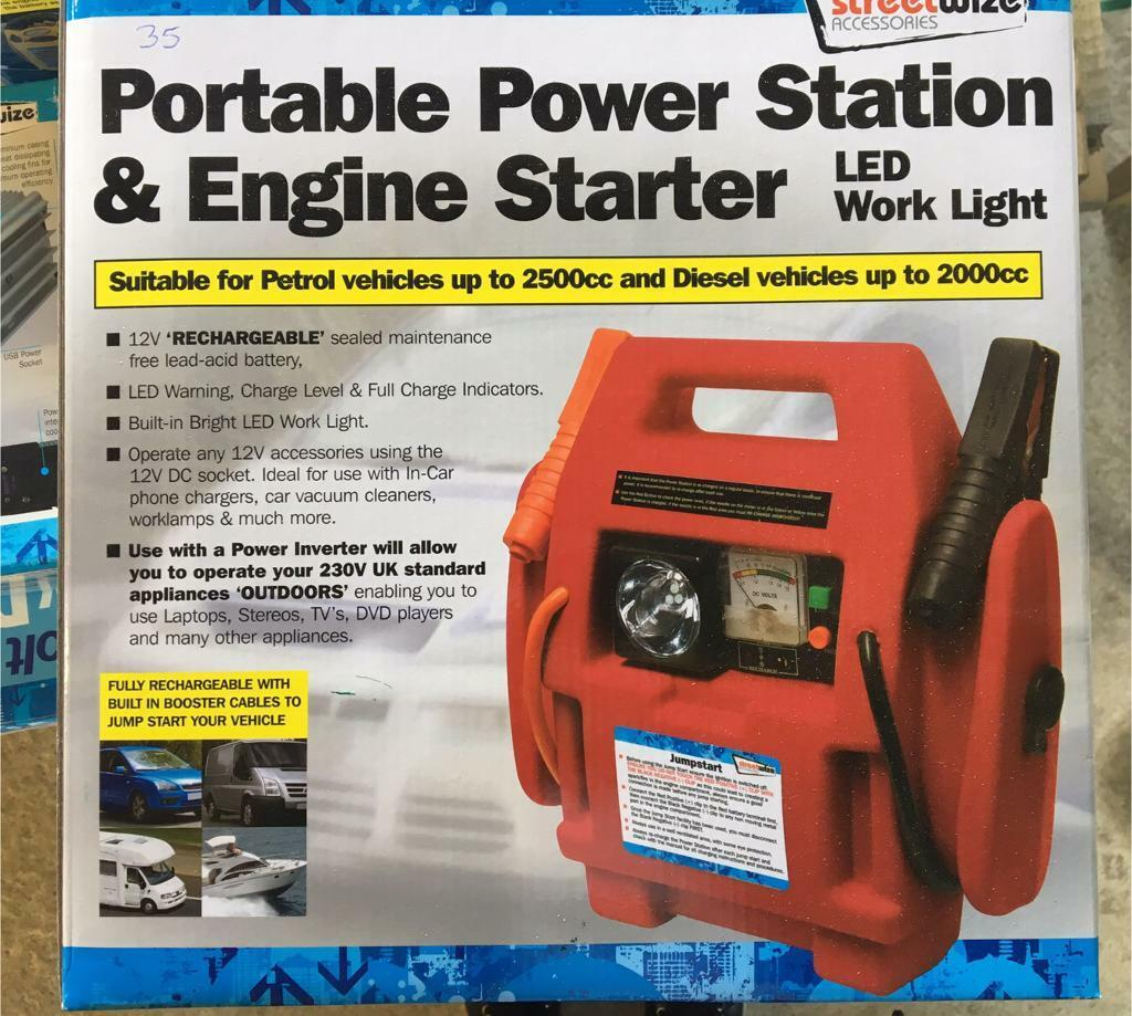 New Portable Power Station Engine Starter In Knutsford 12v Battery Indicator Level