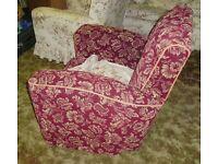 3-piece Suite - Moquette, Sofa, Arm Chairs - Settee - WW2 Vintage, Antique, Retro, Art Deco. CC41.