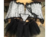 BRAND NEW corset tutu and g string size 10-12
