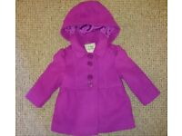 Girls 9-12 month NEXT coat. Excellent condition