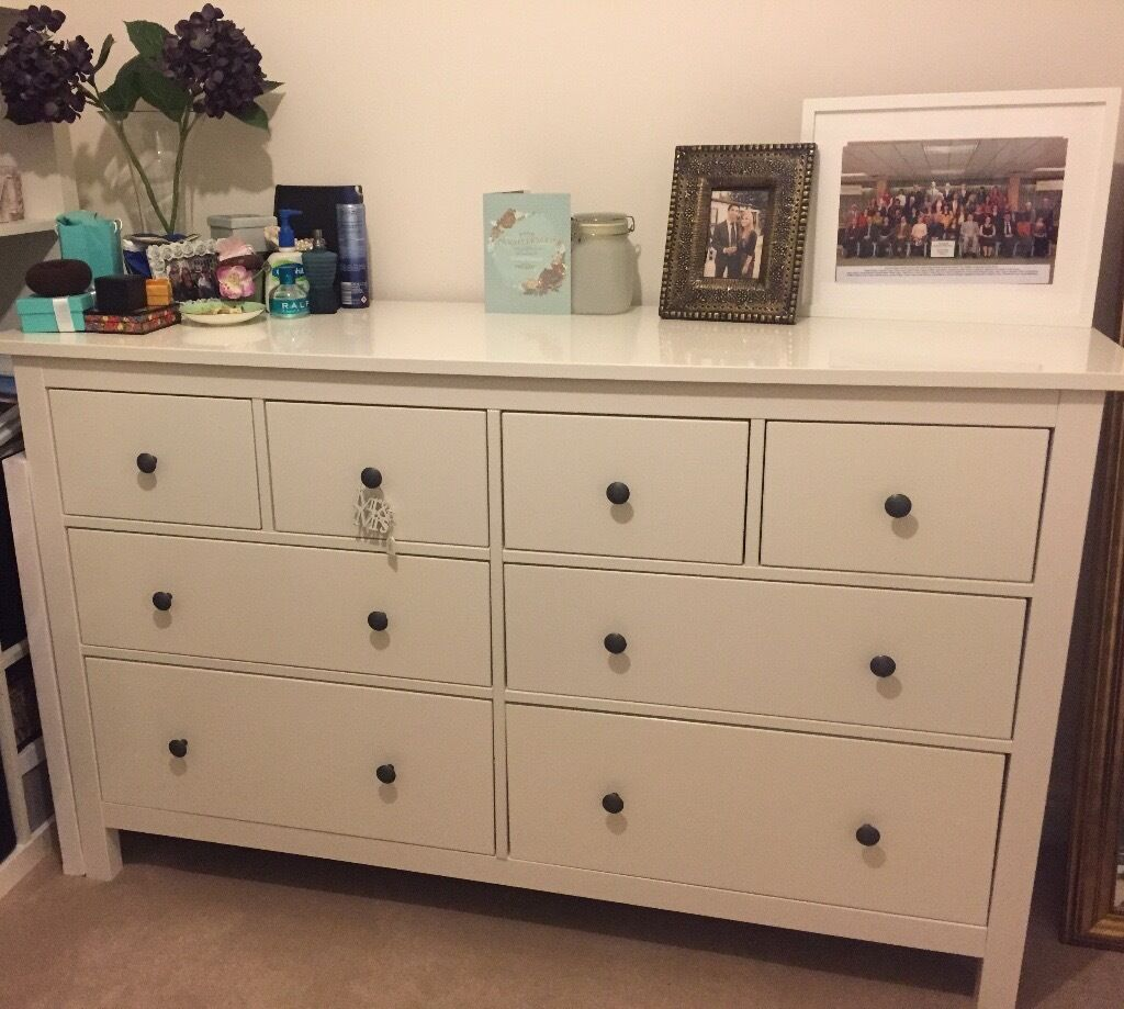 ikea hemnes chest of drawers white in swindon wiltshire gumtree. Black Bedroom Furniture Sets. Home Design Ideas