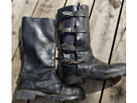 Leather motorcycle boots Size 8