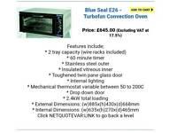 Blue seal E 26 turbofan oven. X 2