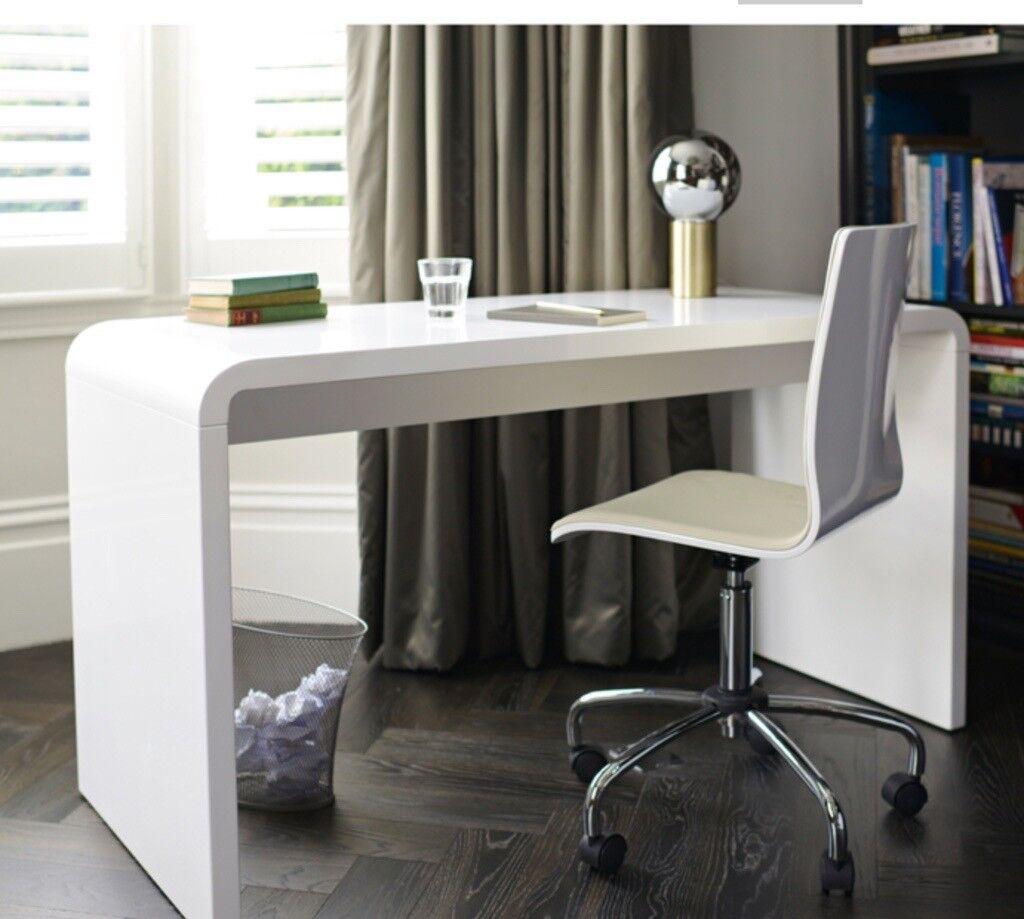Gloss White Desk Cool Computer Desks