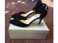 Black Suedette Ladies SIZE 7 (EU 40) Worn Once Only! Excellent Condition!