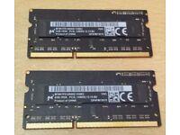 Apple Micron 8GB (2 x 4GB) RAM Memory Sticks PC3L 14900 for iMac Mac MacBook Mac Mini Retina
