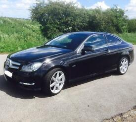 ** *PRICED TO SELL*** Merc C Class Coupe, AMG Sport, red leather