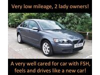 Volvo S40 1.6 4 door, 43400 miles, full service history, lady owners MOT May '17, excellent car
