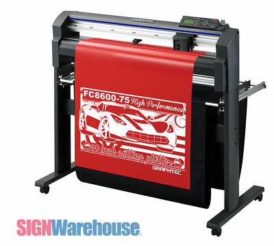 30 Graphtec Fc8600-75 Vinyl Cutter Plotter Stand Decal Machine Bundle Kit