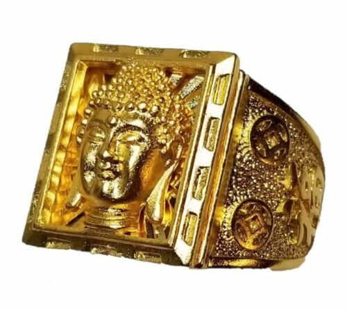 Buddha Face Ring - Buddhist finger band - For Man - Copper - By Creedjoul