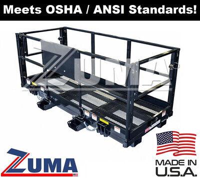4x8 Man Basket For Reach Forklift 4x8 Telehandler Work Platform Attachment