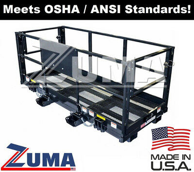 4 X 9 8 Forklift Telehandler Man Basket Work Platform Attachment Osha