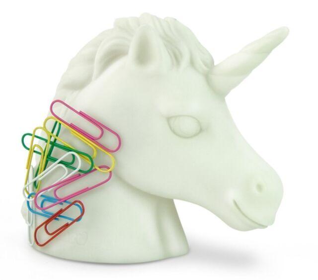Unicorn Paperclip Holder Magnetic Desktop Organiser Fun Office Stationery
