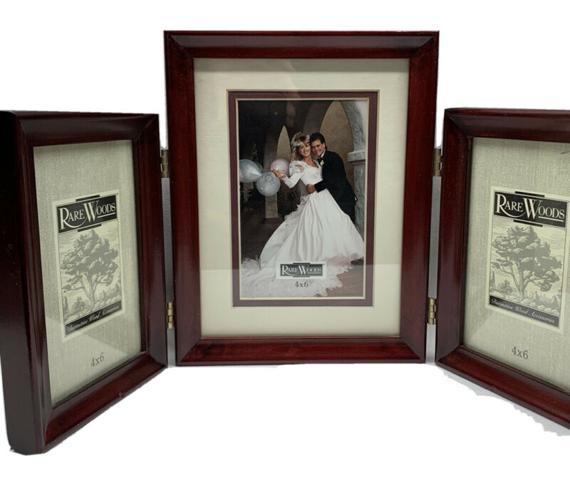 Rare! RareWoods 3 in one picture Frames
