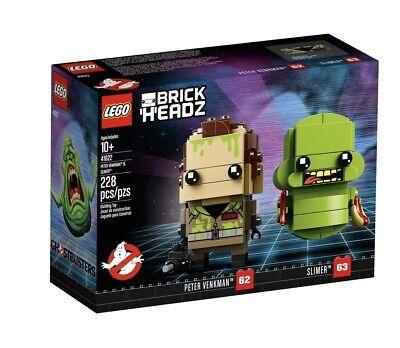 LEGO GHOSTBUSTERS  BRICKHEADZ PETER VENKMAN & SLIMER 41622