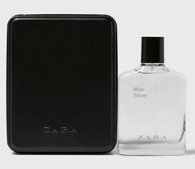 Zara Man Silver 100ml Eau De Toilette Gift Box Spray New Sealed.
