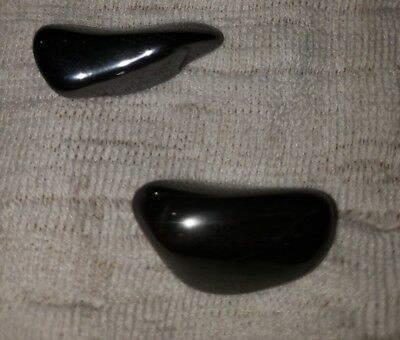 Absolutely gorgeous polished hematite stones lot of 2
