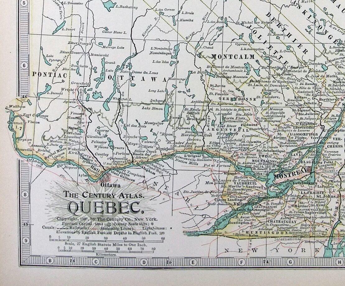 魁北克省地图中文版