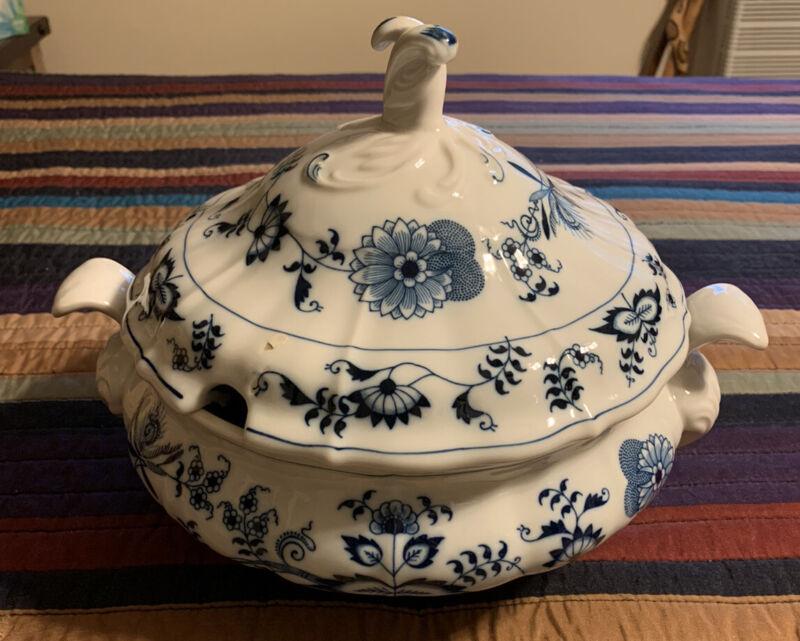 vintage blue danube Soup Tureen