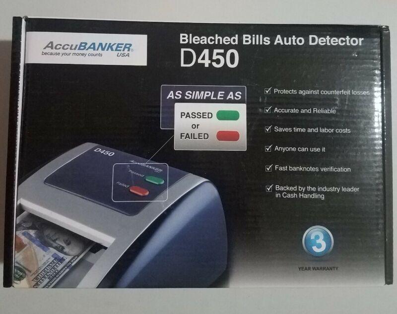 AccuBanker D450 Counterfeit Bill Detector, Red