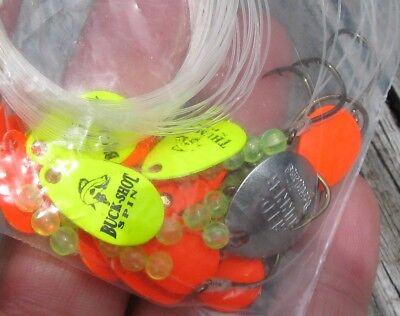 3 Luhr Jensen Bang Tail 3//4 oz Spinners Gold Spectrum Blades Salmon Steelhead