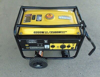 Champion 4000 Watt Gas Portable Gasoline Generator W Wheel Kit108156-1 Jao