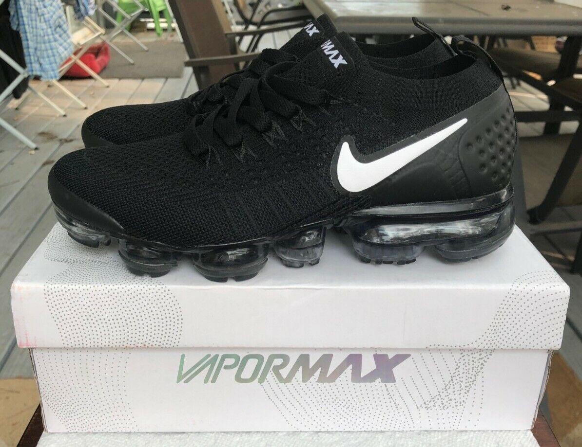 """Women's Nike Air VaporMax Flyknit 2 """"Black White"""" Size 8"""