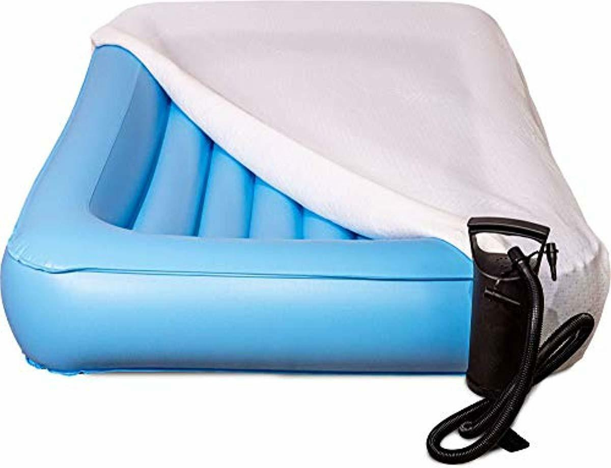 Air Mattress Toddler Inflatable Travel Bed with Safety Rail