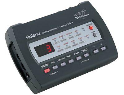 ROLAND TD-3 PERCUSSION SOUND MODULE DRUM MACHINE & POWER SUPPLY
