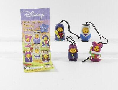 Winnie the Pooh Puuh === Walt Disney 4 Figuren Tomy Fancy Dress Handy Anhänger (Fancy Dress Disney Figuren)